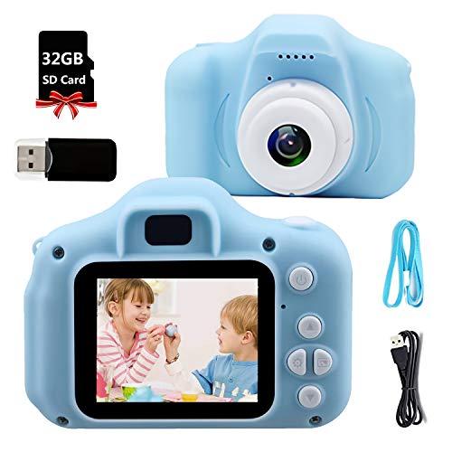 Cámara para Niños, Cámara Digital para Niños IPS2.0 con Tarjeta de Memoria SD 32GB, Video Cámara Infantil HD 8MP 1080P, Cámara de Fotos Digital para Niños Creativo Ideales para Niños Niñas de 3-10 YS