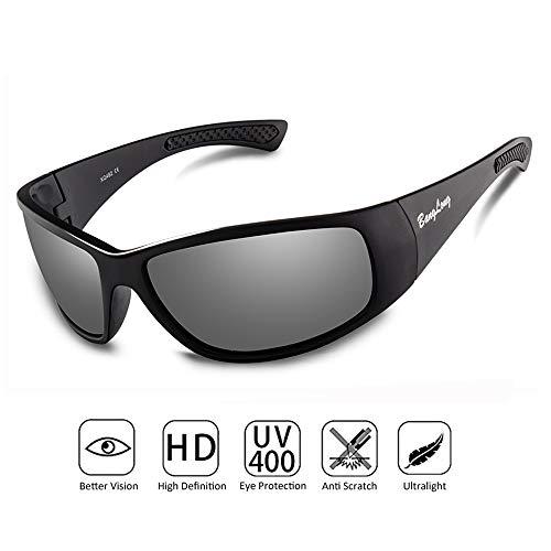 BangLong Polarisierte Sonnenbrille, Sonnenbrille für Herren Damen Fahrradbrille Sportbrille Fahrer Brille UV Schutz Outdooraktivitäten Autofahren Fischen Laufen Wandern Sport