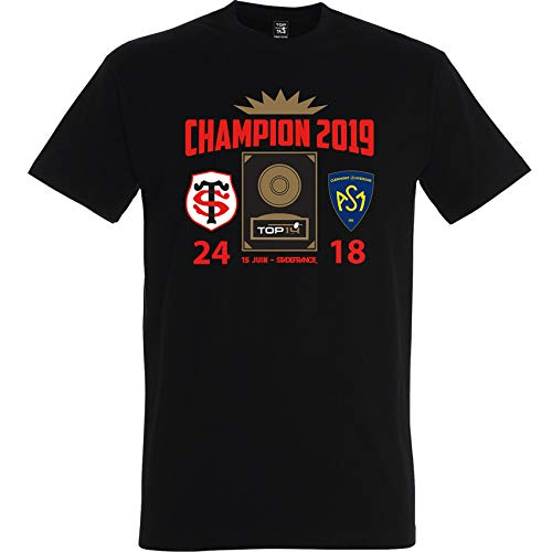 Top 14 de Rugby T-Shirt Stade TOULOUSAIN - Champion 2019 - Collection Officielle Taille M