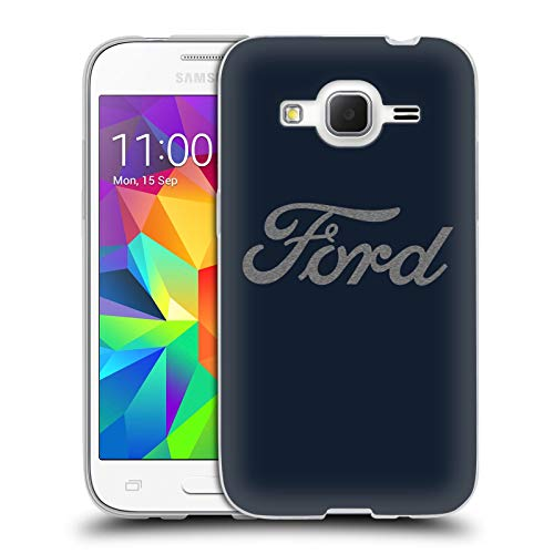 Head Case Designs Officially Licensed Ford Motor Company Detroit Ornament Logos Soft Gel Case Compatible with Samsung Galaxy Core Prime