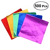 ULTNICE Folie Papier Wrapper,Aluminium Foil Papier für Schokolade Süßigkeiten Candy Packung 500...