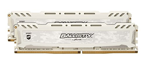 Image of Crucial Ballistix Sport LT 2666 MHz DDR4 DRAM Desktop Gaming Memory Kit 8GB (4GBx2) CL16 BLS2K4G4D26BFSC (White): Bestviewsreviews