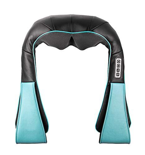 Massagegerät mit Wärmefunktion für Schulter Nacken Rücken Nackenmassagegerät Shiatsu Elektrisch Massager mit 3 Einstellbaren Geschwindigkeiten Muskel Schmerzlinderung zu Hause Büro und Auto