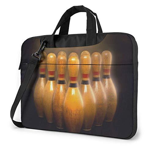 Bowling Quakeproof Laptoptasche Aktentasche Schulter Umhängetasche Umhängetablett Bussiness Carrying Handtasche