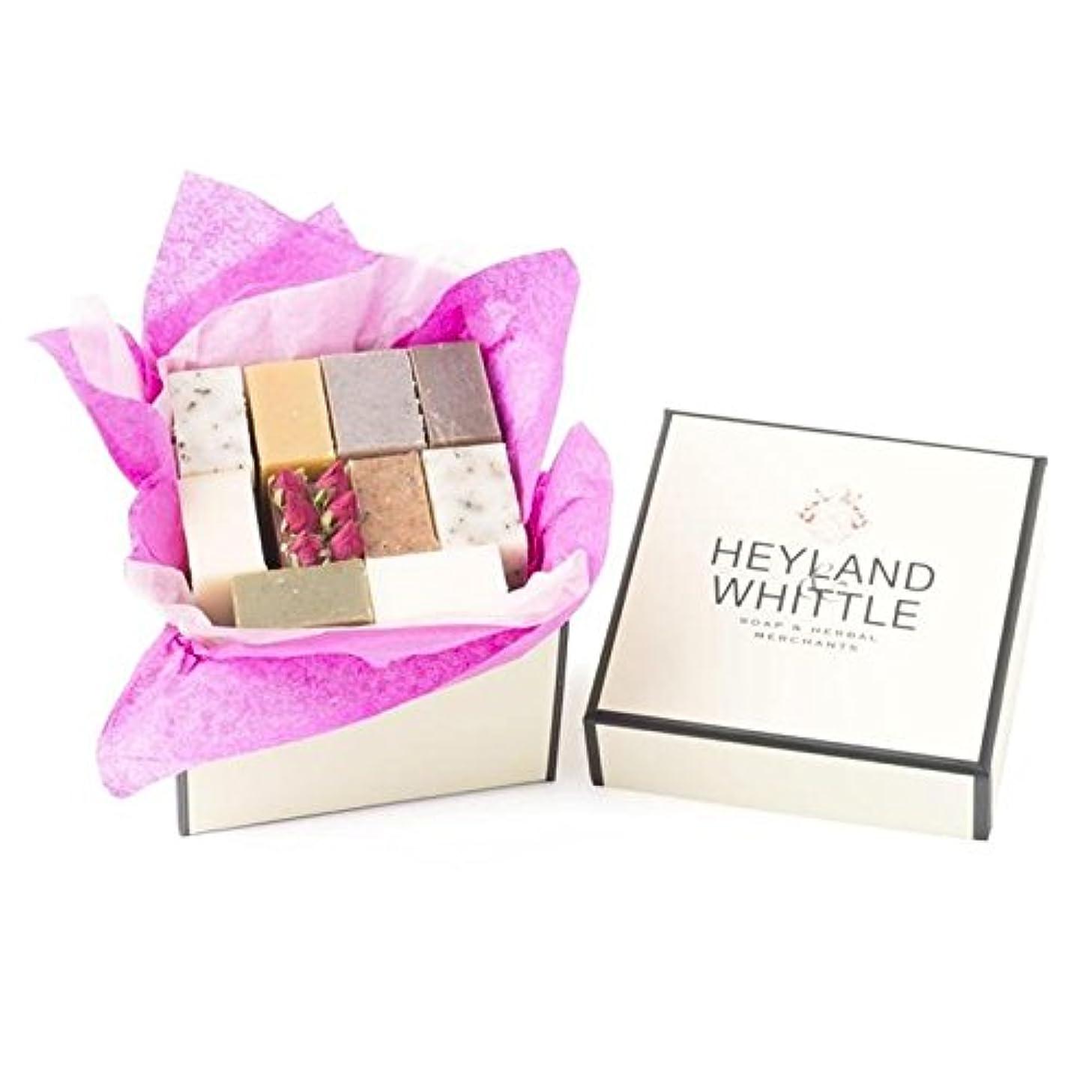 ロゴ縞模様の許可小さな&削るソープギフトボックス、 x2 - Heyland & Whittle Soap Gift Box, Small (Pack of 2) [並行輸入品]