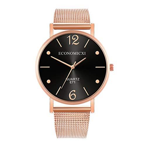 BURFLY Herren Business Fashion Watch, Einfache Atmosphäre Quarz Armbanduhren Casual und Business-Serie Mesh Belt Watch großes Zifferblatt Alloy Strap Geschenke