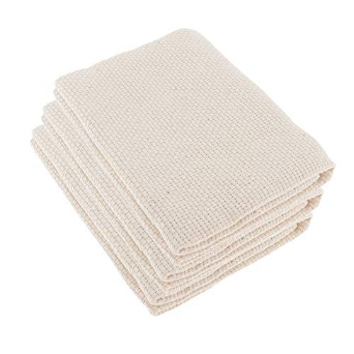 Colcolo 3er Pack Blank Cotton Monk's Stoff Kreuzstich Aida Cloth Needling Crafts DIY