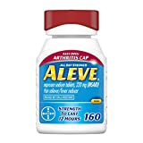 Aleve Arthritis Gelcap, Fast Acting All Day Pain Relief for Headaches, Muscle Aches, and Fever Reduction, Naproxen Sodium Gelcaps, 220 mg, Yellow, 160 Count