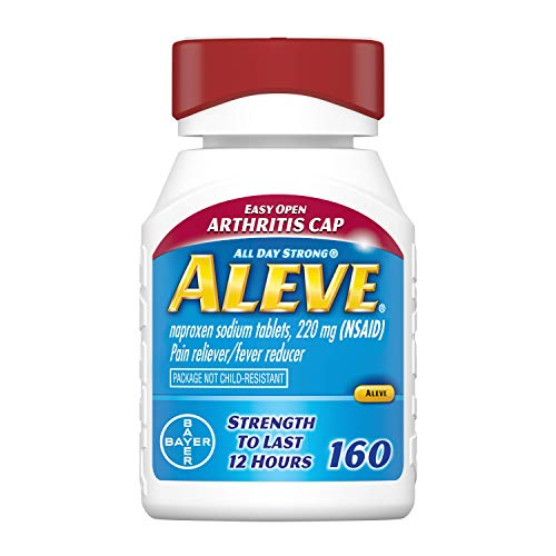 Aleve Arthritis Gelcap Fast Acting All Day Pain Relief for Headaches Muscle Aches and Fever Reduction Naproxen Sodium Gelcaps 220 mg 160 Count