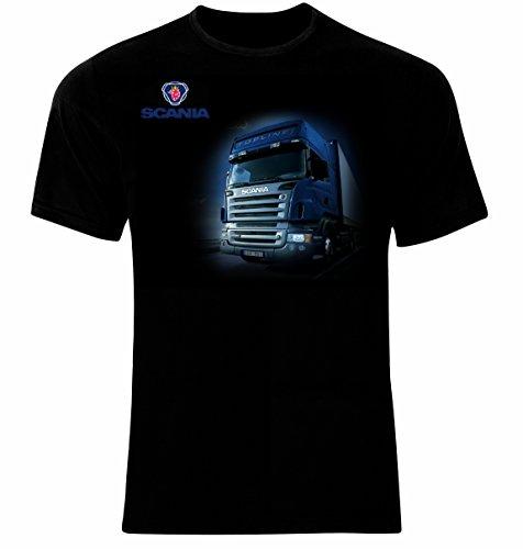 Scania Truck Drivers Logo LKW Männer Printed T-Shirt (XL)