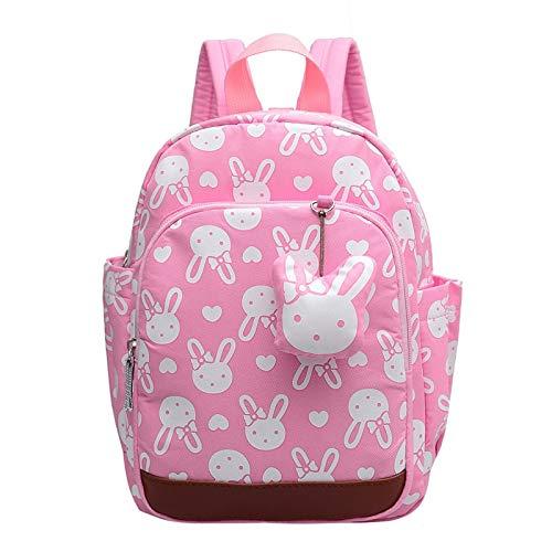 WENJIA Schoolbag de los niños Nuevo Bebé Caminando Bebe Niños Niños Mochila Correa Bolsa Arneses y Correas 0-24 Meses (Color : Pink)