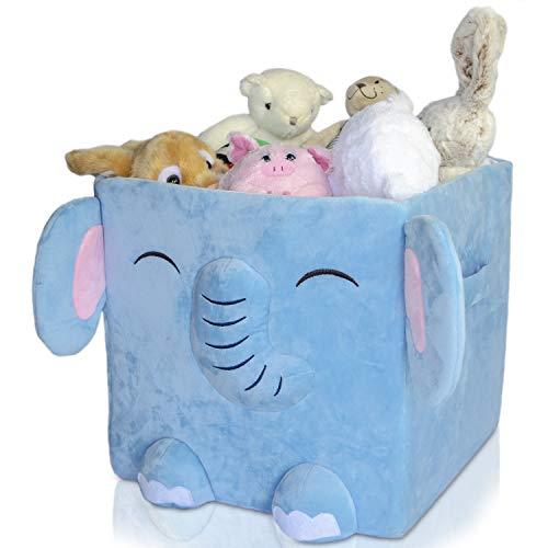 Antiope Design Speelgoed Doos Gemaakt In Pluche Wasbaar Nieuw Product Kubus 33x33 Speelgoed Opbergmand Kids Organizer Container (Elliot the Elephant)