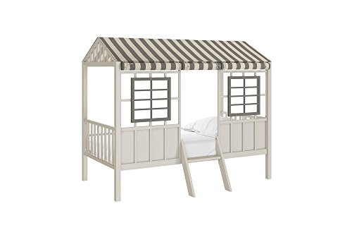 Little Seeds Rowan Valley Forest Loft Bed, Grey/Taupe, Twin