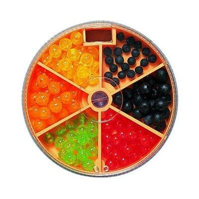 STMK Gummi-Kunstoff-Perlen bunt Sortiert