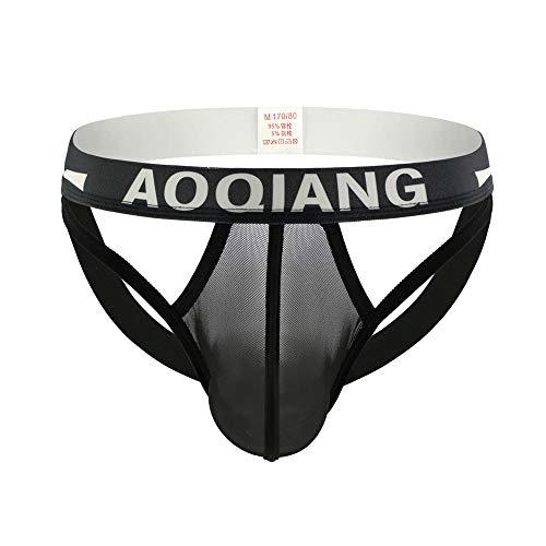 iLXHD Underwear Men's Supersoft Briefs Boxer Mesh Sweat Absorbing Breathable Underpants Comfort Knickers Black