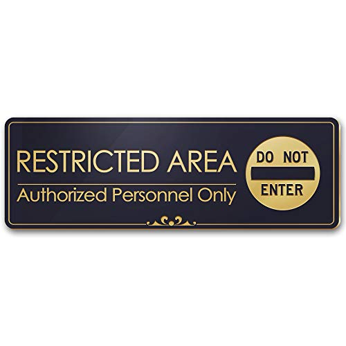 Restricted Area Authorized Personnel Only - Laser Engraved Sign - 3