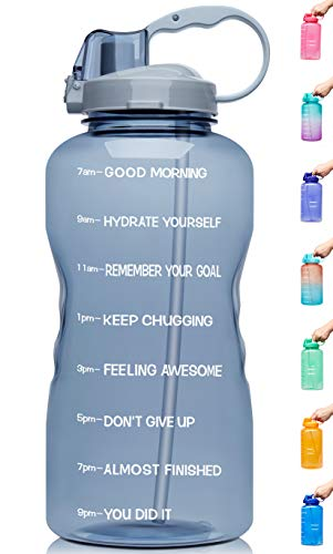 (40% OFF) 1 Gallon Motivational BPA Free Leakproof Water Bottle $12.59 – Coupon Code