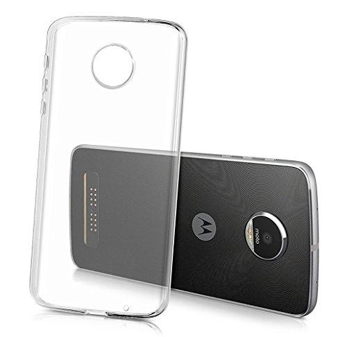 Sunrive per Lenovo Moto Z Play 5,5 Pollici, Custodia Cover Case in Molle Trasparente Ultra Sottile TPU Silicone Morbida Flessibile Pelle AntiGraffio Protettiva(TPU Nessuna Immagine)