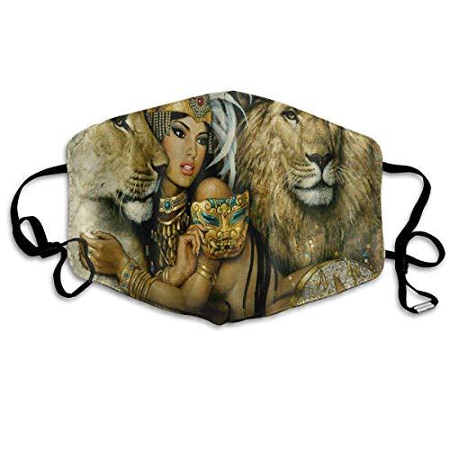 Bequeme verstellbare afrikanische Frau Ägypten Q-Königin und Löwe Gesichtsdekorationen für Frauen und Männer