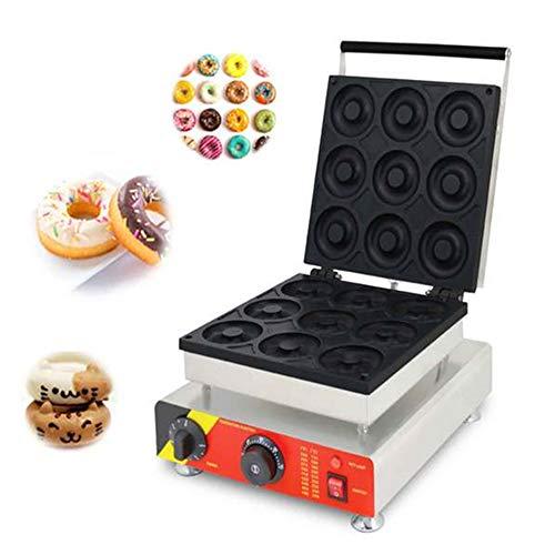 Angela Machine à Beignets électrique, 9 pièces, Anti-adhésive, à température contrôlée, pour Utilisation dans Les Restaurants et Les Maisons, 2500W