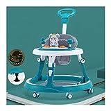 CJW-LC Andador para Bebés, Andadores Plegable con Mango De Empuje Y Almohadilla para El Pie,Andador para Bebés Antivuelco con 6 Ruedas Universales Silenciosas para Niños Y Niñas De 6 A 18 Mese,A