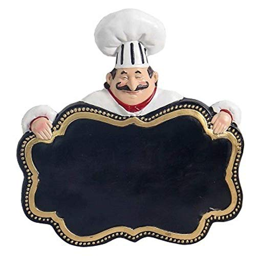 Statues Home Decor Modern Ornaments,European Chef Hanging Message Board Wall Hanging Blackboard Cafe Restaurant Wall Decor