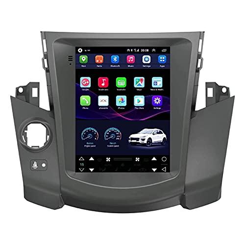 Pantalla De Tesla De 9.7 Pulgadas para Toyota RAV4 2006-2012 Coche Android Player Multimedia Autoradio Estéreo GPS Navegación SWC WiFi FM Bluetooth USB (NO Soporte DVD),4 Core-WiFi: 1+16G