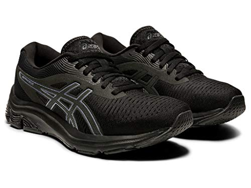 ASICS Women's Gel-Pulse 12 Running Shoes, 9.5M, Black/Black