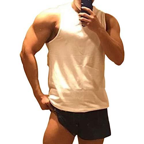 Samy タンクトップ メンズ トレーニング ノースリーブ ボディビル 筋トレ Tシャツ トレーニング スポーツウェア トップス 大きなサイズ BX-097 ホワイト 3XL