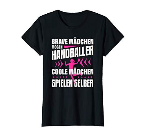 Brave Mädchen Mögen Handballer Coole Spielen Selber Handball T-Shirt