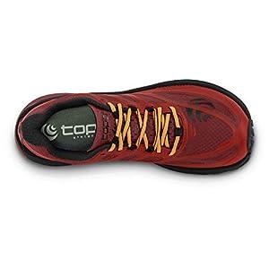 Topo Athletic Men's MTN Racer Trail Running Shoe, Red/Orange, Size 12