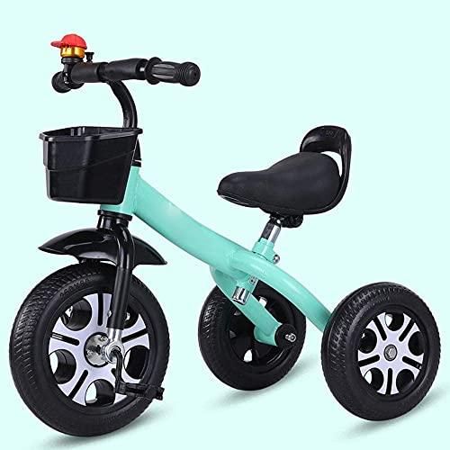 Triciclo ligero Triciclo para niños Triciclo de ciclismo para niños, Coche de pedales para niños Cochecito de bebé ligero, antideslizante, Bicicleta de entrenamiento con neumático sólido / asiento de