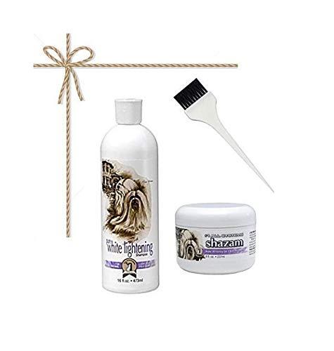 #1 All Systems Pure White Lightening Shampoo + Shazam Super Whitening Gel + Applicator Brush