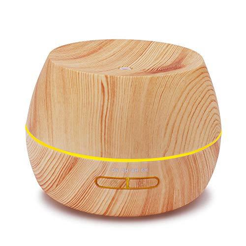 Luftbefeuchter Öle Diffusor 300ml Holzmaserung Smart Mini Streuer für ätherische Öle - Holzmaserung Ultraschall Duft Humidifier