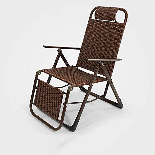 Haushaltsprodukte Sun Lounger Tragbarer Liegestuhl Gartenstuhl Liegestühle Sun Loungers Schwerelosige Stühle Verstellbarer Klappdeckstuhl für Sonnenliegen (Farbe: Rundrohr)