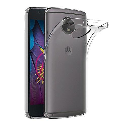 AICEK Cover Moto G5S, Cover Motorola Moto G5S Silicone Case Molle di TPU Trasparente Sottile Custodia per Lenovo Moto G5S (5.2 Pollici)