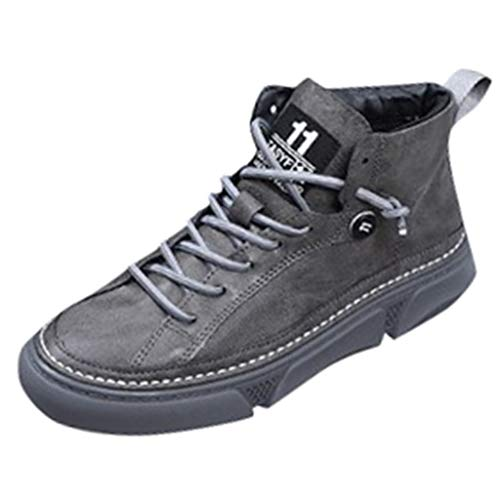 Amazing Deal Hot Sale! Men's Sneakers Vintage High-Top Casual Boots Fashion Wild Thick-Soled Sport S...