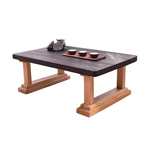 Tables D'étude Chinoise Basse Tatami en Bois Massif Basse Simple À Thé Zen Basse Japonaise Basses (Color : Brown, Size : 60 * 40 * 30cm)