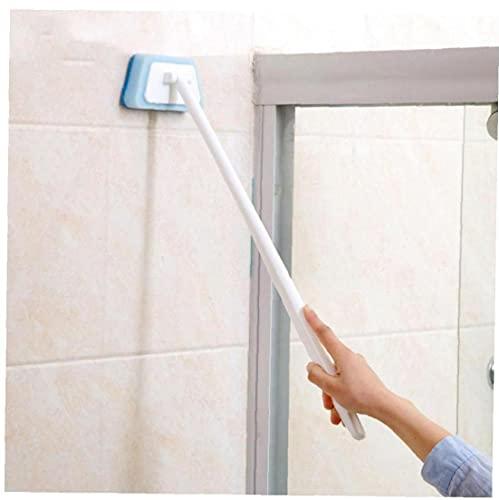 Froiny 1pc Esponja Largo Cepillo Baño Limpieza Cepillo Baño Baño Cepillo Baldosas Azulejo Cepillo Azul