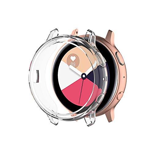 Amial Europe -- Carcasa compatible con Galaxy Watch Active 2 protector de pantalla SmartWatch Case de TPU Funda blanda [Extra Protección] [Anti-arañazos] [Ultra fina] (40 mm, Transparente)