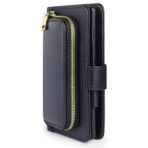 TERRAPIN, Kompatibel mit Samsung Galaxy A20e Hülle, Damen-Portemonnaie mit Geldbörse & Kartenhalter, Echtes Spaltleder außen