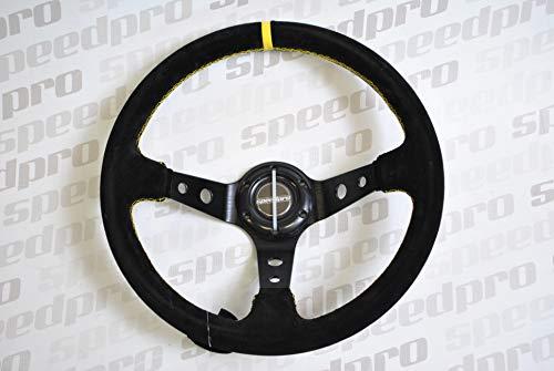 Lenkrad/Sportlenkrad Schwarz Wildleder 95 mm geschüsselt Rallye/Racing - Speedpro