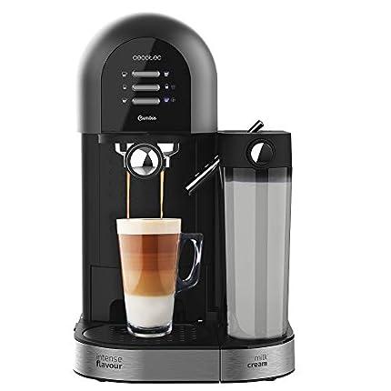 Cecotec Cafetera Semiautomática Power Instant-ccino 20 Chic Serie Nera. para café molido y en cápsulas, 20 Bares, Depósito de Leche 0.7ml, Depósito de Agua 1.7L, 1470W