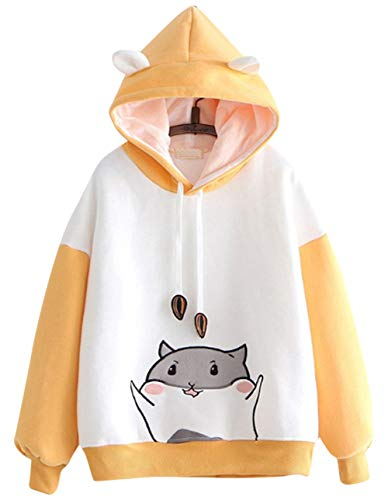 Adorable sudadera con capucha de animal de dibujos animados