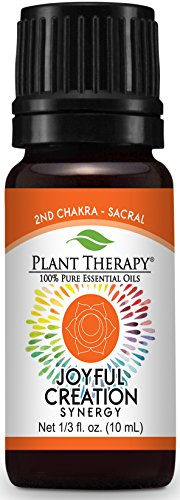 Plant Therapy Chakra 2 Joyful Creation Synergy (Sacral Chakra) 10 mL (1/3 oz) 100% Pure, Undiluted, Therapeutic Grade