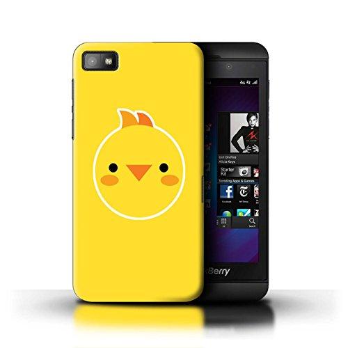 Stuff4® Hülle/Hülle für BlackBerry Z10 / Baby-Huhn-Kunst Muster/Niedliche Minimalistische Tiere Kollektion