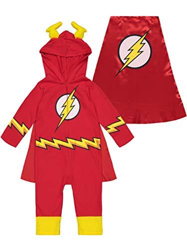 DC Comics Justice League Pyjama The Flash - Dors Bien Body avec Chaussons et Manteau - Costume de Carnival - Bébé Garçon (18 Mois)