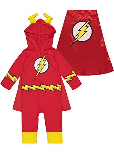 Warner Bros. DC Comics Justice League The Flash Strampler, Overall, Kostüm für Kinder und Kleinkinder, 12 Monate