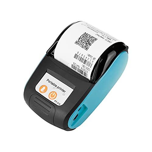 UTDKLPBXAQ Impresora térmica de Recibos Bluetooth 4.0, Impresión térmica Directa de Etiquetas de Alta Velocidad de 90 mm/s, Impresora de facturas personales para Paquetes de envío Ventas de restaur