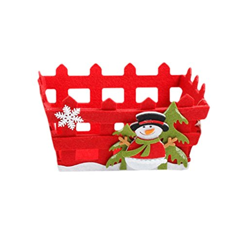 Christmas Basket! Paymenow Clearance 2018 Merry Christmas Decor Toy Doll Gift Home Tree Children Fruit Basket Santa (B)